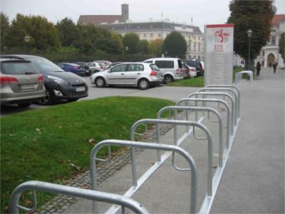Fahrradständer Modell Stadt Wien, Fahrradständer Förderung, Radständer Wien, Bügelparker, Bügelständer BST