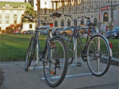 Fahrradständer Wiener Bügel, Bügelständer, Wiener Radbügel