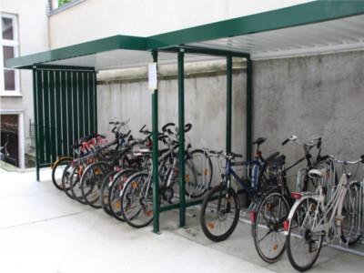 Fahrradständer mit Überdachung, Radständer Dach