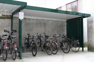 Fahrradüberdachung Metall