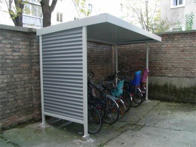 Überdachte Fahrradständer, Fahrradständer Dach, überdachter Fahrradständer